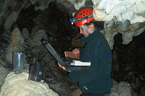 Collection of seepage waters in the cave for determination of selected physical-chemical parameters in situ; Benikova Cave