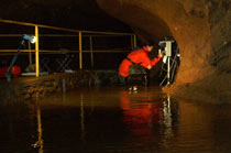 Monitoring of temperature and specific electric conductivity of occasional waters in the Suchá Passage of the Gombasecká Cave