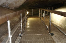 Reconstruction of the show path in cave from stainless steel material.