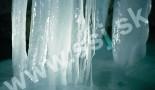Widok z bliska nacieku lodowego