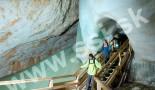 Ujście tunelu pod wielką kurtyną nad piekło