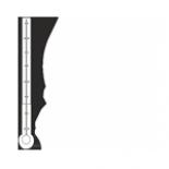 Temperatura w jaskini waha się od 8,8 - 9,4 °C.