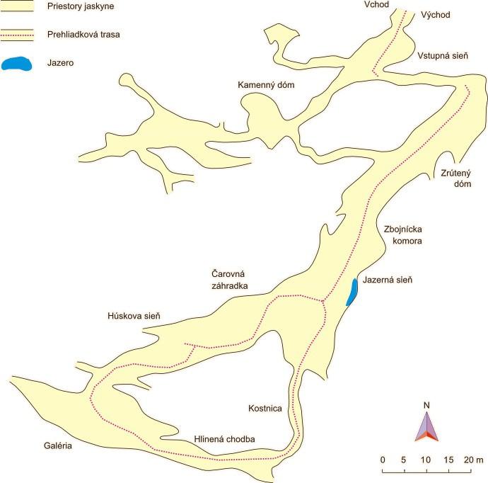 Mapa jaskyne